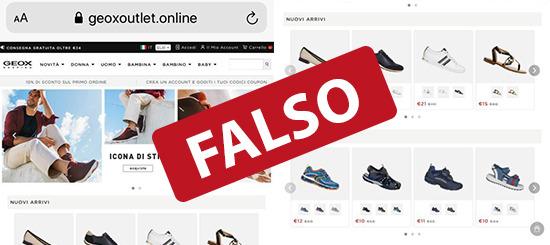 TRUFFE ONLINE: FALSO SITO DELLA GEOX