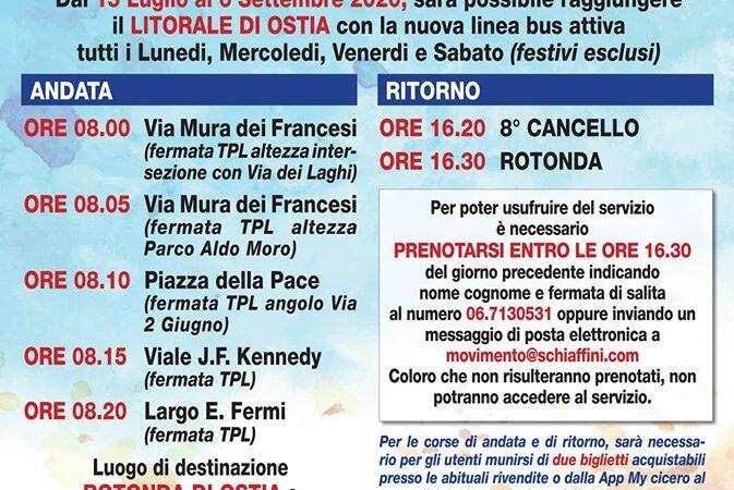 Comune di Ciampino: Riparte il bus per il mare