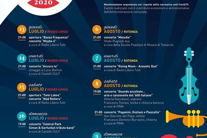 """Albano Laziale, al via l'""""Albano Summer Festival 2020″"""