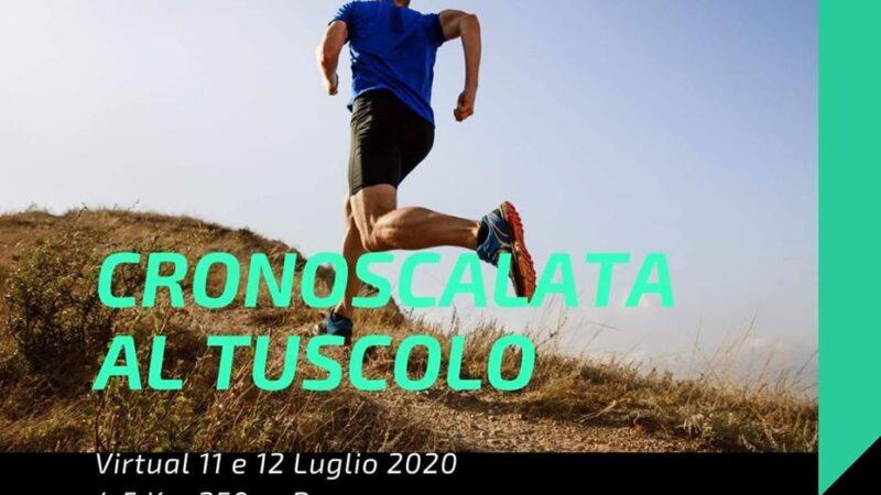 Frascati, la Cronoscalata al Tuscolo diventa una sfida virtuale al cronometro per tutti i runner d'Italia