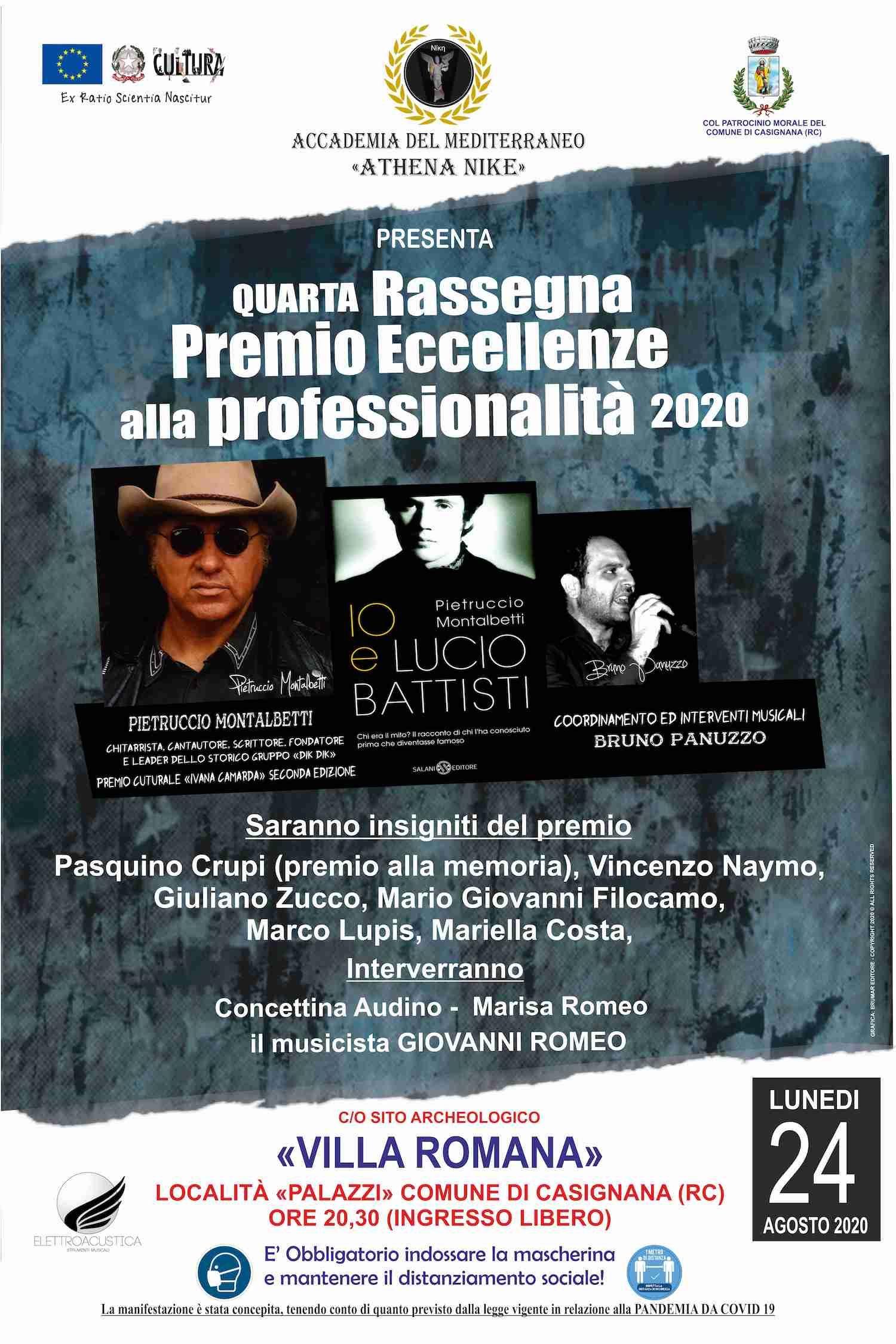 """IL PREMIO """"ECCELLENZE 2020"""" CONFERITO ALL'ARTISTA PIETRUCCIO MONTALBETTI"""