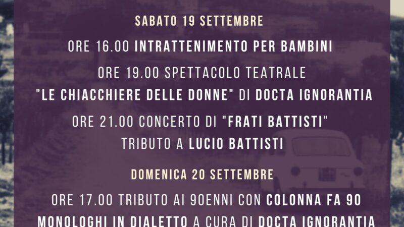 """""""C'era una volta…a Colonna"""" dal 18 al 20 settembre"""