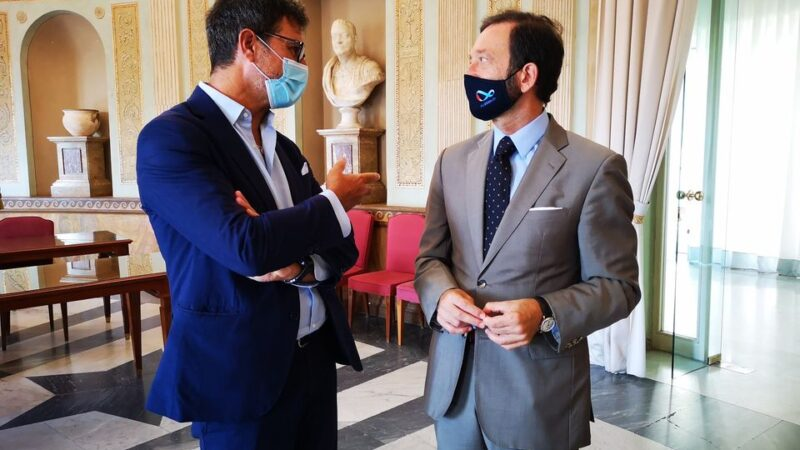 Il Sindaco Roberto Mastrosanti ha ricevuto l'Ambasciatore tedesco Viktor Alexander Elbling