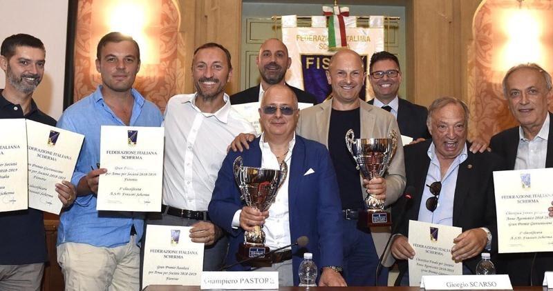 Frascati Scherma Campione d'Italia. Il Presidente Molinari dedica la vittoria a Frezza