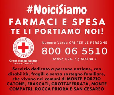 #RestaAcasa: farmaci e spesa a domicilio con la Croce Rossa (Comitato Tusculum)