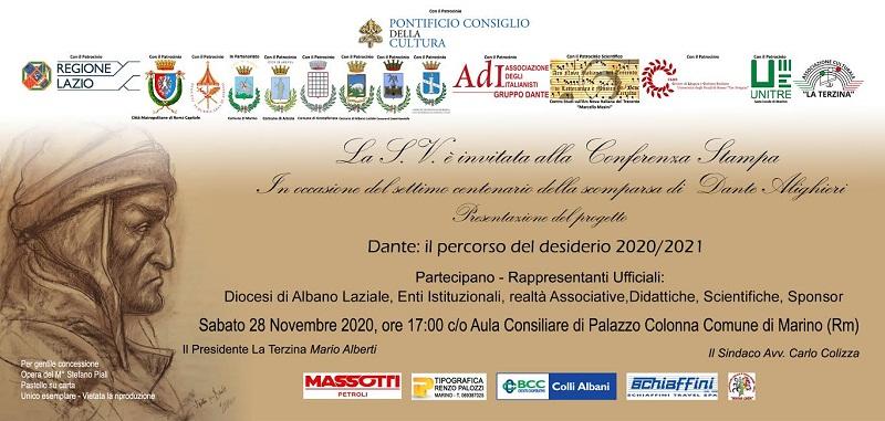 """""""Dante e il percorso del desiderio"""", due mesi di eventi nei Castelli Romani"""