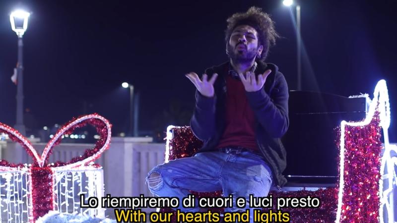 """Nettuno – Online """"Rosso Natale"""" di Brazzo, rapper di Italia's got talent ( FOTO -VIDEO)"""