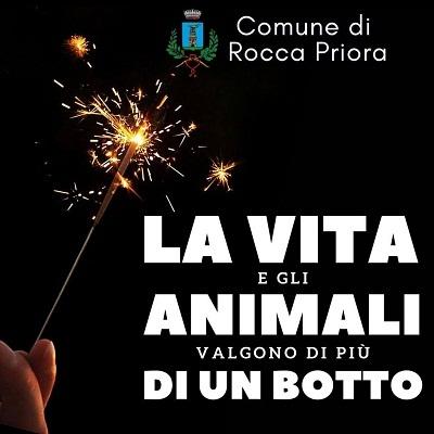 """Rocca Priora, campagna di sensibilizzazione per Capodanno: """"La vita vale più di un botto"""""""