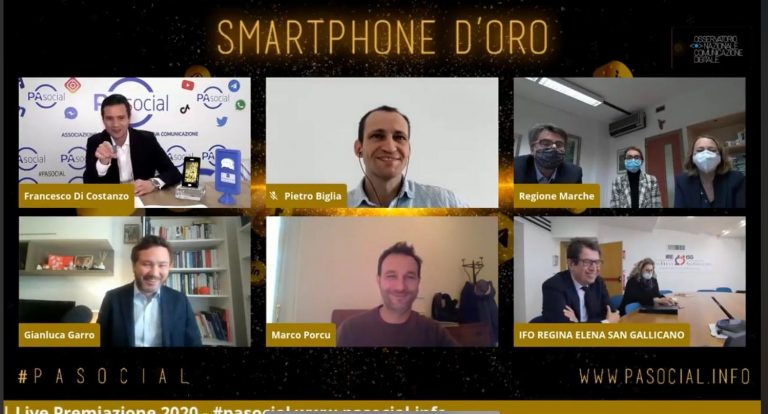 """Smartphone d'oro"" di PASocial: IFO vince nella categoria ""risposta all'emergenza COVID-19"" (VIDEO)"