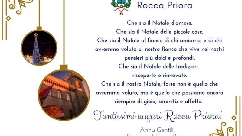 Rocca Priora, gli auguri del Sindaco Gentili per Natale
