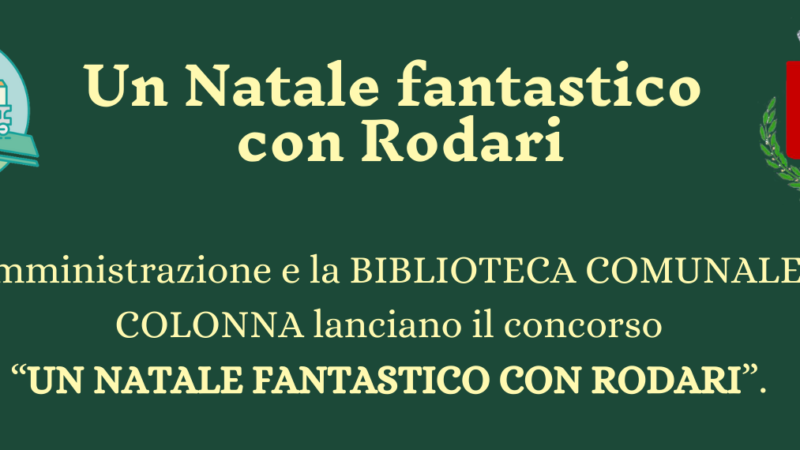 """Colonna – Al via il concorso """"Un Natale fantastico con Rodari"""" per i 100 anni dalla sua nascita"""