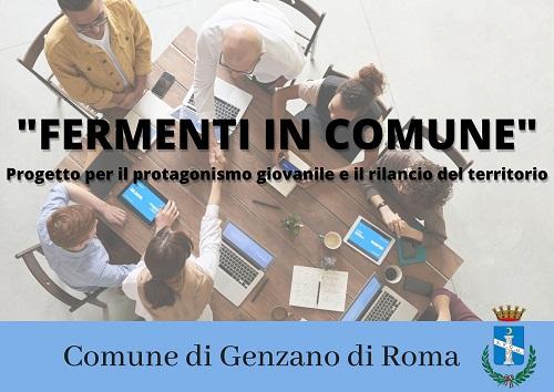"""Genzano – Pubblicato, per i giovani del territorio, il bando """"Fermenti in Comune"""""""