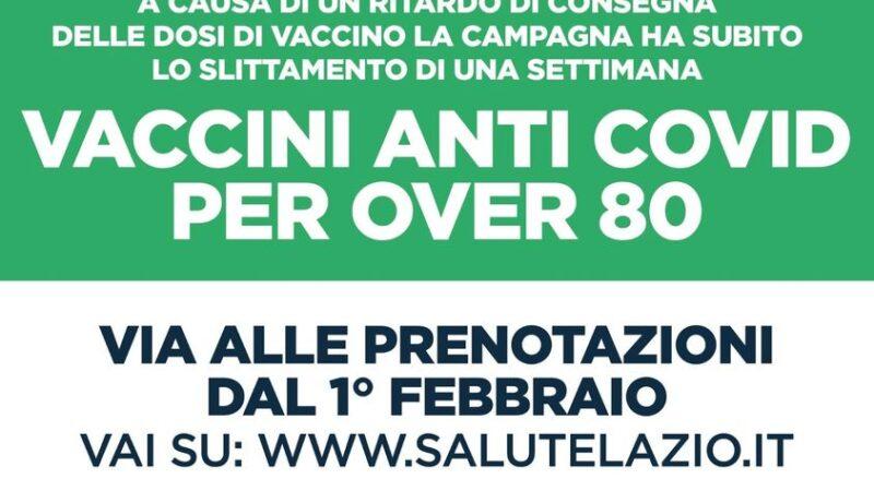 Asl Roma 6, slittamento prenotazioni vaccini anticovid over 80