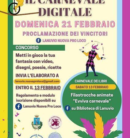 Lanuvio, tutto pronto per il Carnevale digitale 2021