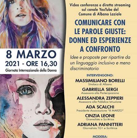 """Albano – Lunedì 8 marzo """"Donne ed esperienze a confronto"""" contro la discriminazione della donna"""