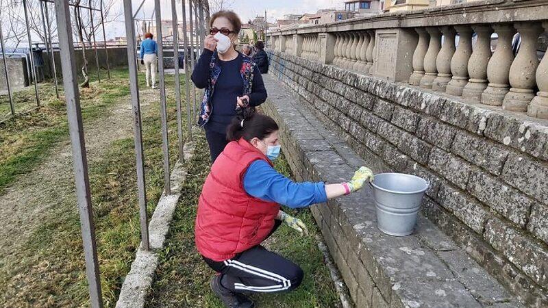 Velletri – Il Gruppo Archeologico Veliterno pulisce il Giardino del Belvedere